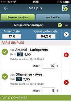 Application parions sport android