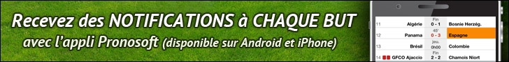 Appli Pronosoft iPhone et Android