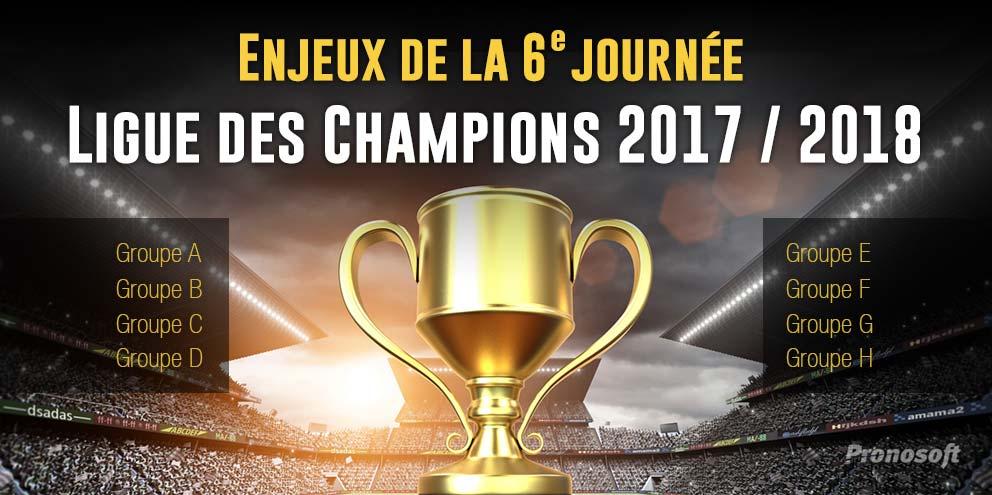 Enjeux de la Ligue des Champions 2017/2018